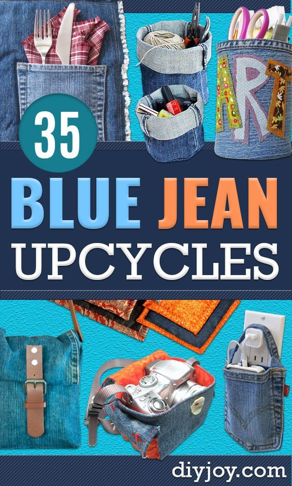 Blue Jean Upcycles – Upcycled jeans for storing toys – possibilities, old jeans …   – DYI