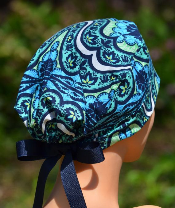 Womens Surgical Scrub Hats The Mini  Indian by thehatcottage, $15.50