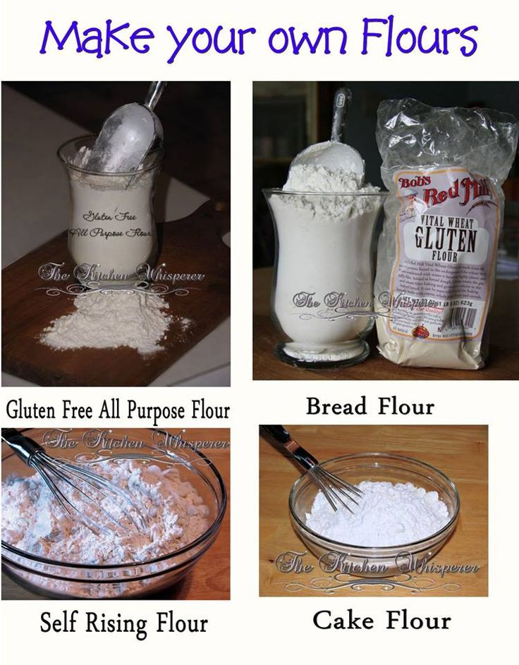 The Kitchen Whisperer - when you're out of a special flour, TKW shows you how to make your own Cake, Bread, Self Rising and Gluten Free All Purpose Flours!