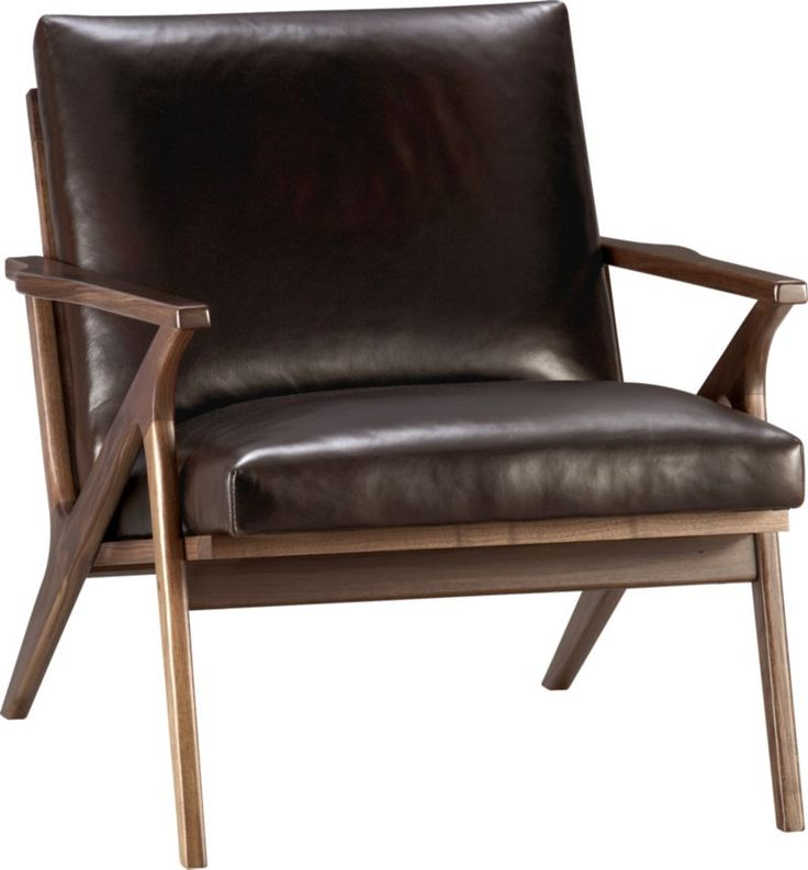 Cavett Leather Chair    Crate and Barrel Color otter