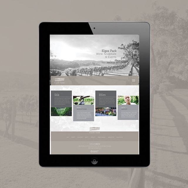 Love the gorgeous responsive #website we launched late last year for @elgeepark #madebyennisperry