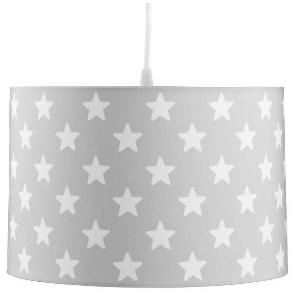 Kinderlampe Scandic Sterne grau