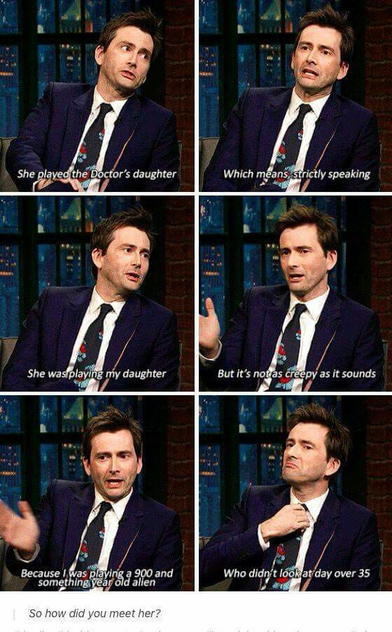"David Tennant on how He Met his wife on Doctor Who episode ""The Daughter of the Doctor"""