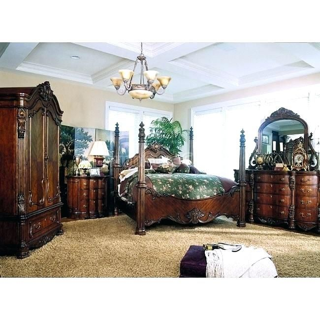 King Bedroom Set With Armoire In 2020 Bedroom Set Bedroom Furniture Sets Bedroom Interior