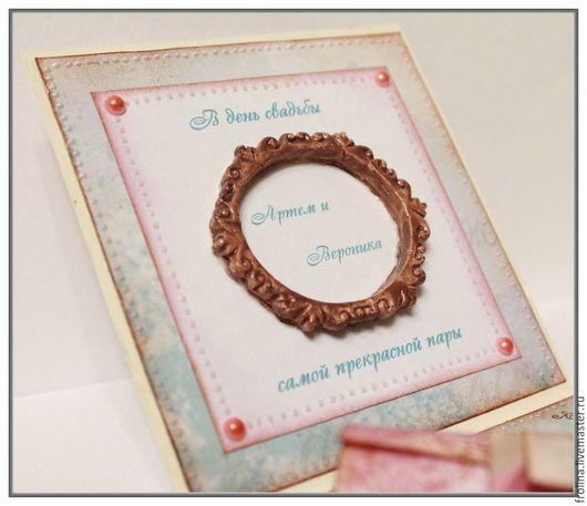 Свадебные открытки ручной работы. Коробочка для денег на свадьбу
