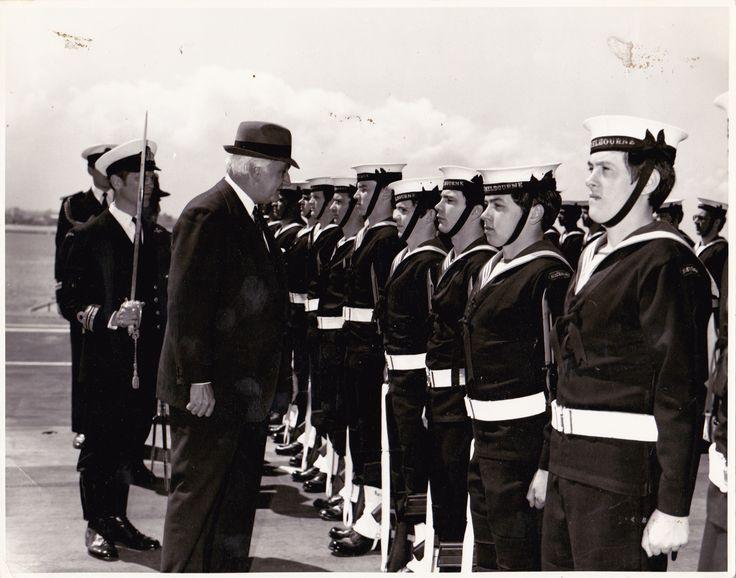 HMAS Melbourne, in Melbourne,1976