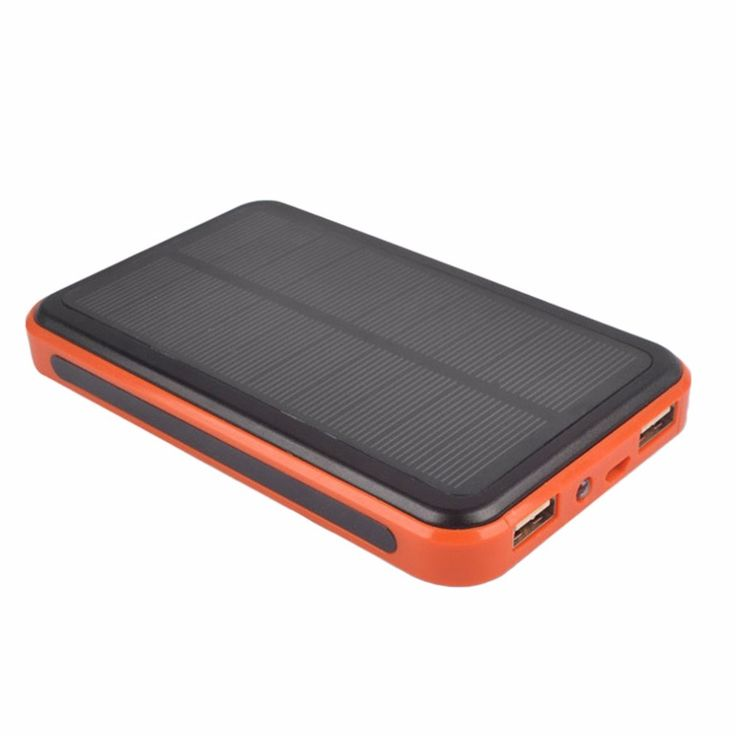 10000 mAh Universal Dual USB Ports Outdoor Solar Powered Power Bank Large Capacity Power Charger for Phones #Affiliate