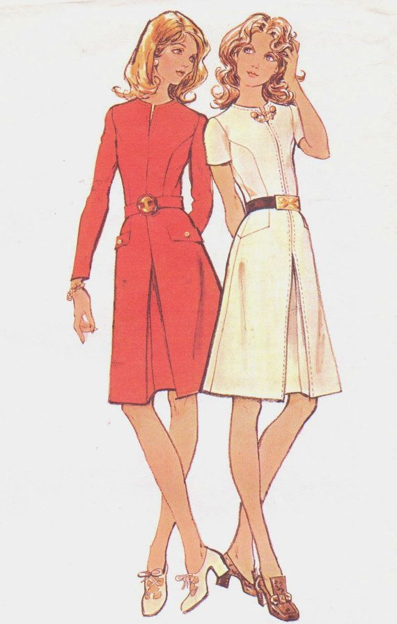 1970s McCalls Sewing Pattern 3053 Womens Dress with by CloesCloset, $12.00