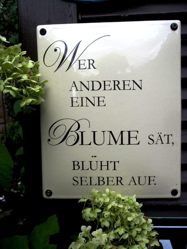 Lagerware | Auwärter Emailschilder - Emailschild Spruchschild Blume…
