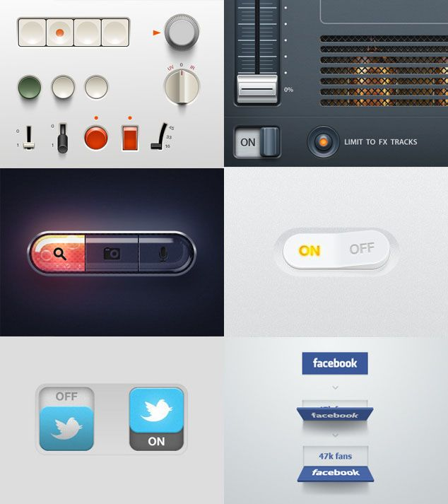 Button UI Elements | http://www.awwwards.com/creative-ui-design-examples-for-great-ux.html