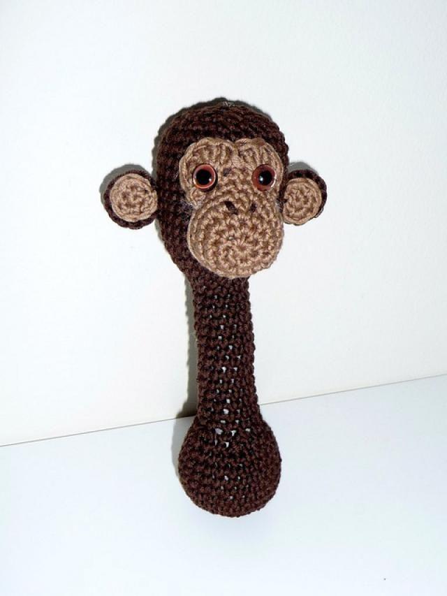 10 Free Crochet Monkey Patterns: Monkey Rattle Free Crochet Pattern