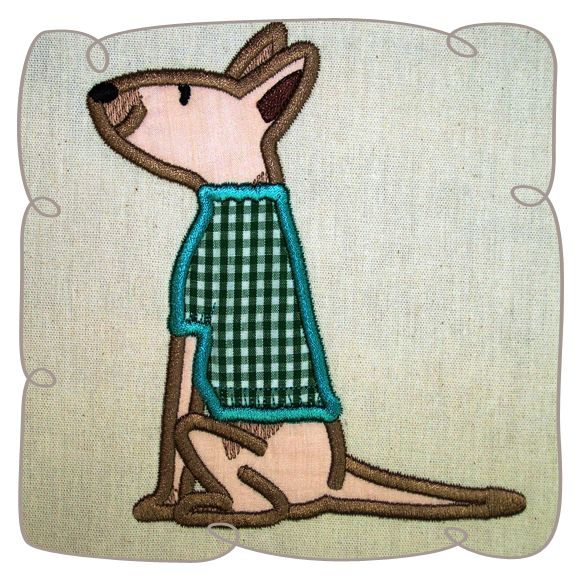 Bart Bullterrier Applique