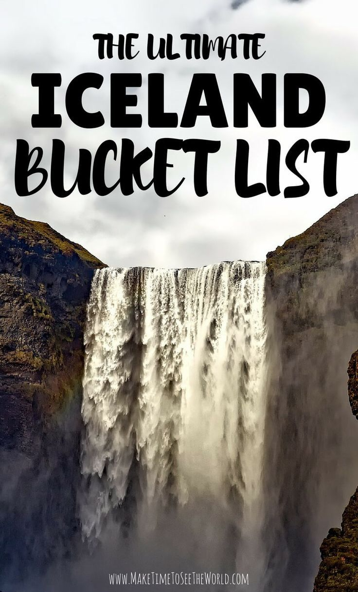 The Ultimate Iceland Bucket List: all of Iceland's highlights and must see spots complete with Off The Beaten Path Alternatives