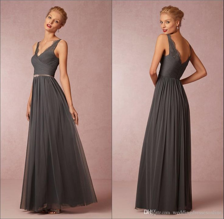 Bridesmaid Dresses Grey Charcoal