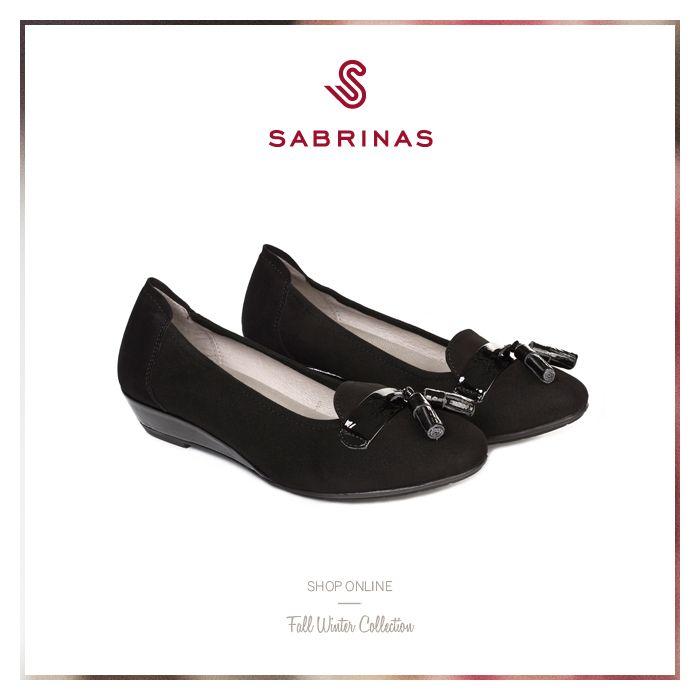Sabrinas NIZA ANTE NEGRO. || The NIZA ANTE NEGRO Sabrinas. #Sabrinas #Black  #Trends #MadeInSpain #Ballerinas #FW1415 #Shoes
