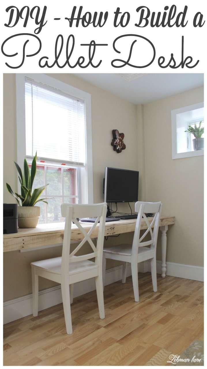 Pallet computer desk pallet office desk diy computer desk diy wooden - Our New Pallet Desk