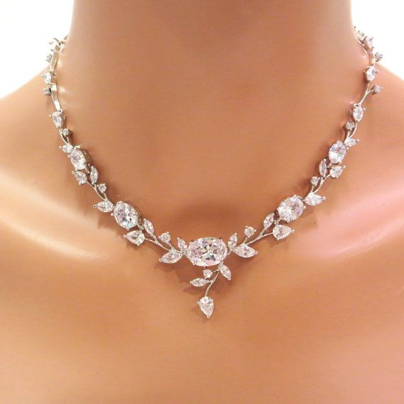 Wedding jewelry set Crystal Wedding necklace by TheExquisiteBride