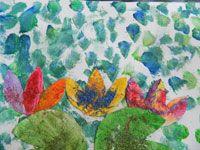 De lelie van de vijver, geïnspireerd door Monet