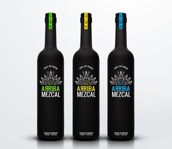 Arriba Mezcal Packaging by Ana Popova, via Behance