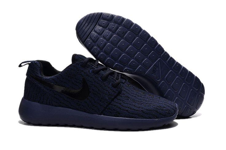 Cheap Nike Roshe One Yeezy 350 All Navy Blue Black,www.freerundistance.com