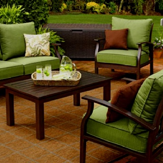 Patio set at Lowes  Patio SetsOutdoor Living  14 best Lowes images on Pinterest   Outdoor ideas  Outdoor patios  . Lowes Outdoor Living Sets. Home Design Ideas