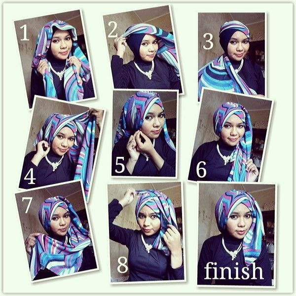 better look... hijab tutorial with square hijab