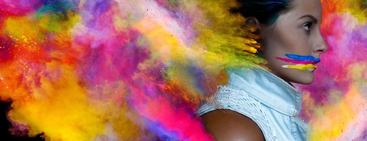 Inspired by HOLI FESTIVAL OF COLOURS