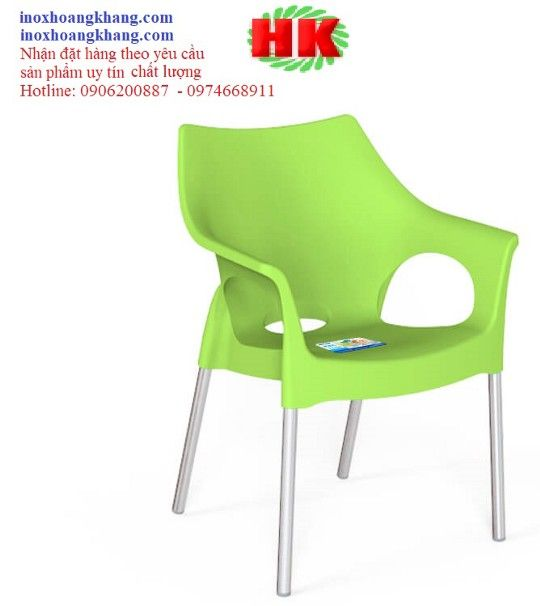 Ghế Cafe Nhựa đúc Inox Bền đẹp Sang