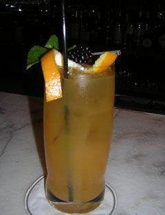 Passion Ginger Margarita 2 oz. Simbra Azul Tequila Blanco 1/2 oz. Cointreau or triple sec 1 oz. Boiron Passion Fruit Puree 1/2 oz. Boiron Mango Puree 1/4 oz. fresh ginger juice 1/2 oz. Monin Passion Fruit Syrup 6 crushed coriander seeds 1/2 oz. fresh lemon juice  First rim the glass with salt mixture below. Put all the drink ingredients into a shaker, shake, and pour into a double rocks glass.