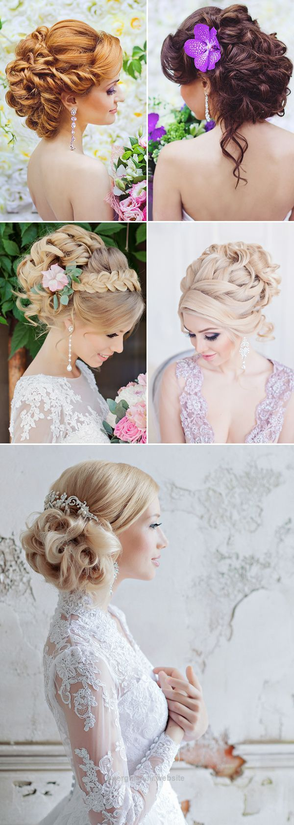 43 best Hairstyles images on Pinterest | Bridal hairstyles, Wedding ...