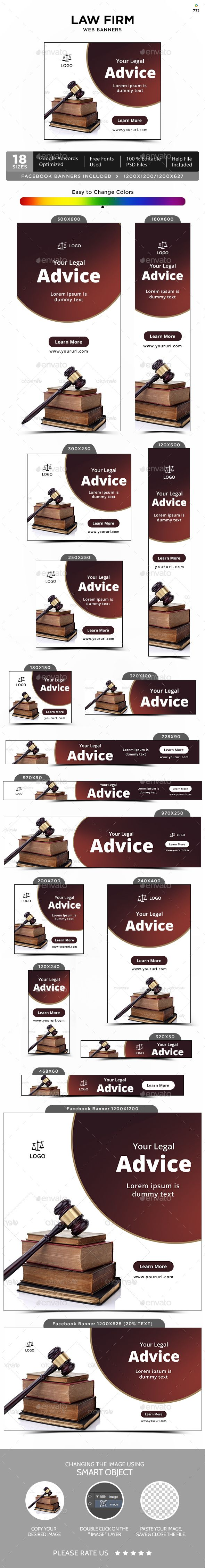 Law Firm Banners - #Banners & Ads #Web Elements