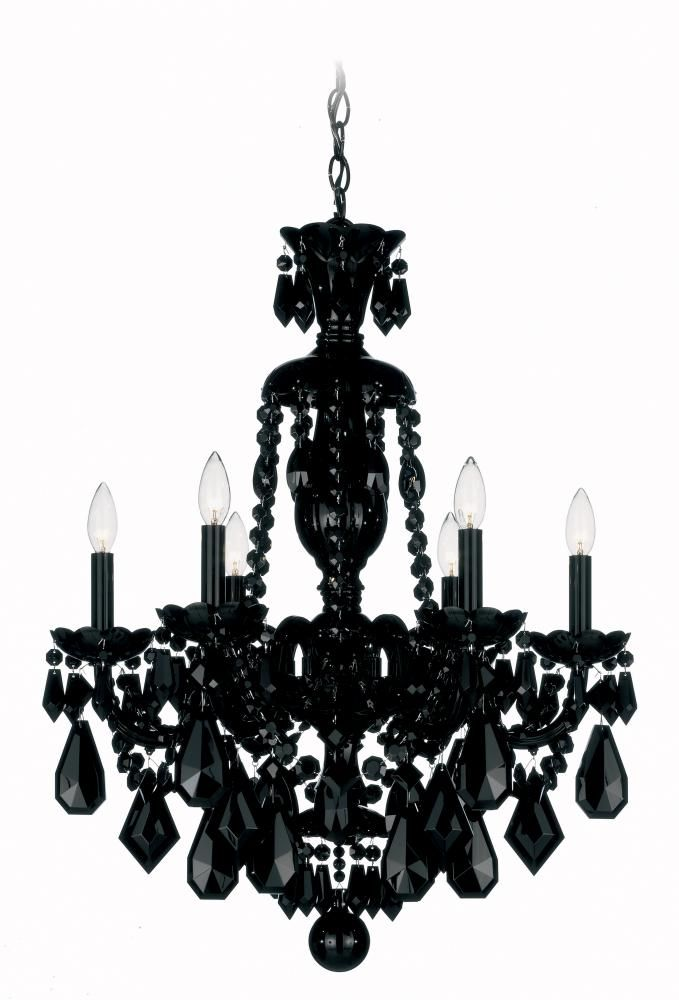 Black on black crystal chandelier dulles electric supply corp