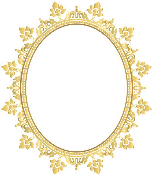 Gold Circle Frame