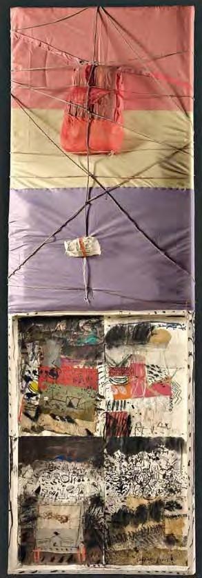 """Medhat Shafik,""""Canto epico"""", tecnica mista su tavola, cm 305x105x15, dal catalogo della mostra """"Novanta artisti per una bandiera"""", ©2013 corsiero editore"""