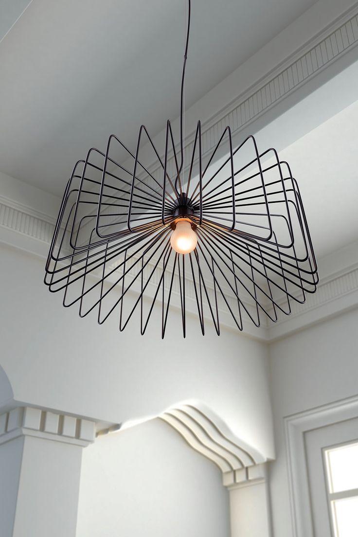 Foehn Black Ceiling Lamp