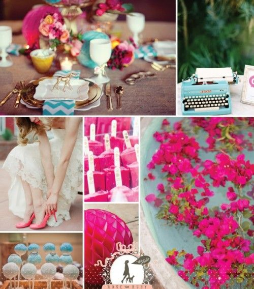 Turquoise Fuchsia Wedding: Vibrant Torquoise And Fuchsia Wedding Inspiration