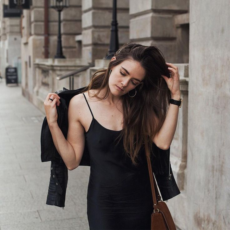 Black silk slip dress   See Instagram photos and videos from Style & Travel - Jenelle Witty (@inspiringwit)