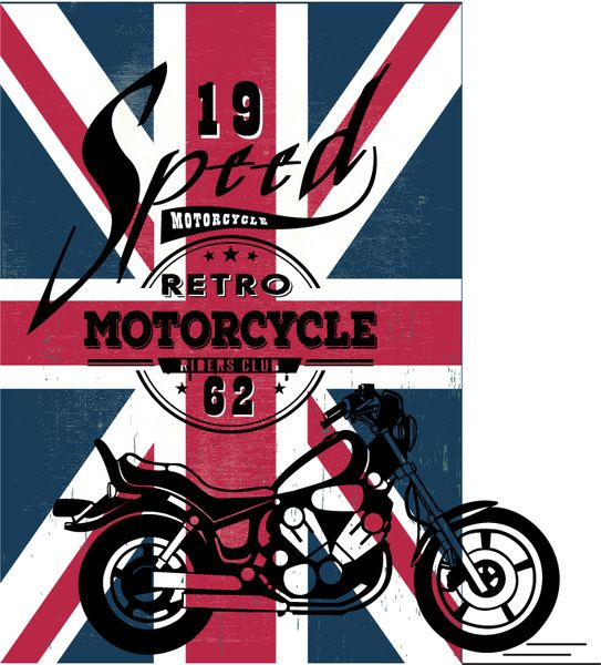 motorcycle show banner flag background