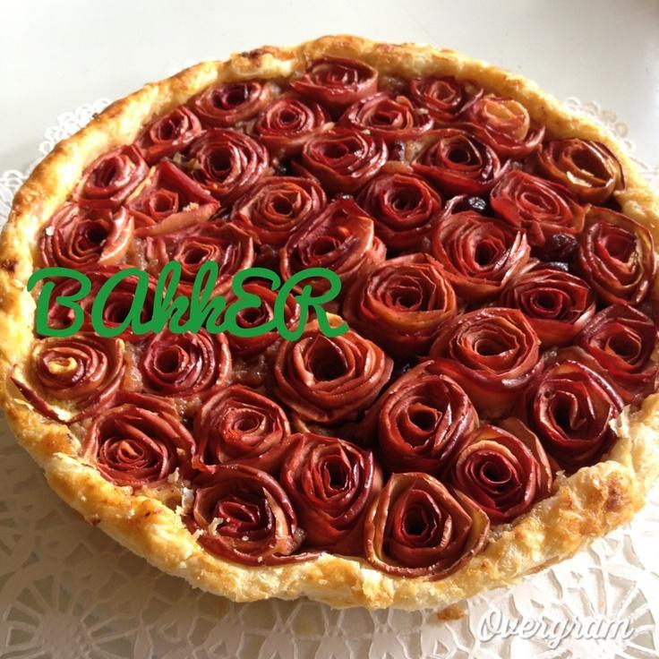 Apple Pie - Pie de manzana en rosas