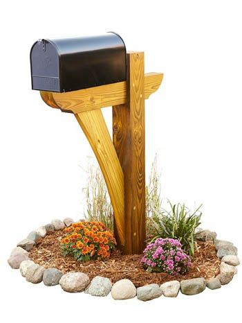 31-MD-00964 - Timber Frame Mail Box Post Woodworking Plan
