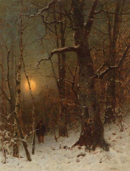 Ludwig Munthe, Mondnacht im Winterwald