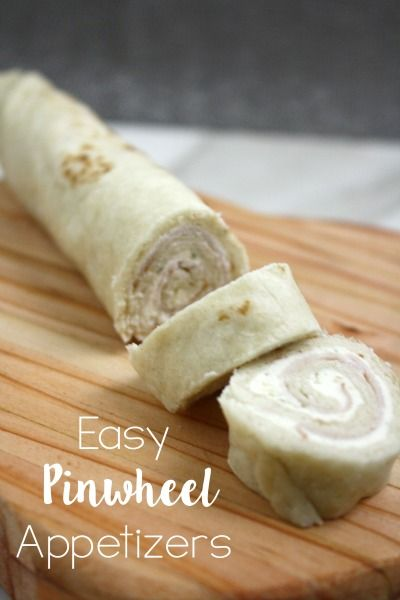 Easy pinwheel appetizers using 3 ingredients in under a few minutes!