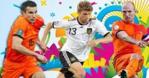 Thomas Müller,Arjen Robben y Robin Van Persie son los goleadores del Mundial.