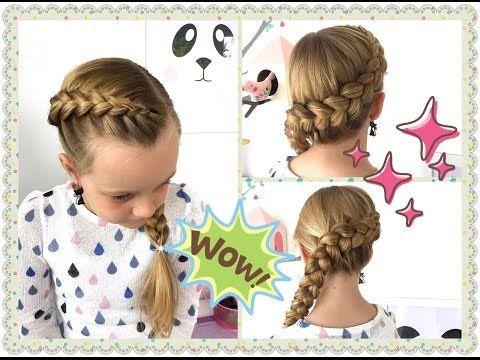 ♥Holländischer Zopf um den Kopf♥ Flechtfrisur ♥Zopf Frisur♥ für Mädchen - YouTube
