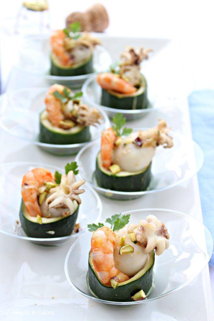Seppioline ripiene di zucchine, cozze e mazzancolle