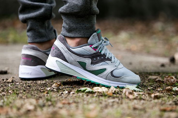 "Saucony Grid 8000 CL ""Light Grey"" (S70197-3) - http://goo.gl/ntYbZw"