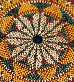 Ancient Beadwork | archaeological beadwork analysis & bead studies | Hassocks & cushions