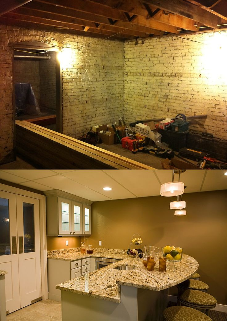 before u0026 after for this basement renovation