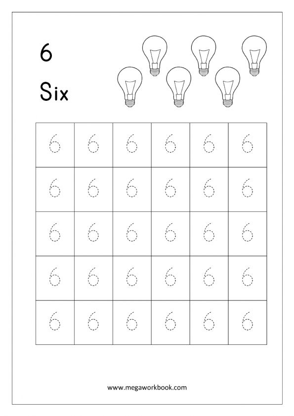7 Preschool Worksheet Number 6 Preschool Chartsheet Net In 2020 Kindergarten Math Free Kindergarten Math Worksheets Kindergarten Math Worksheets Free