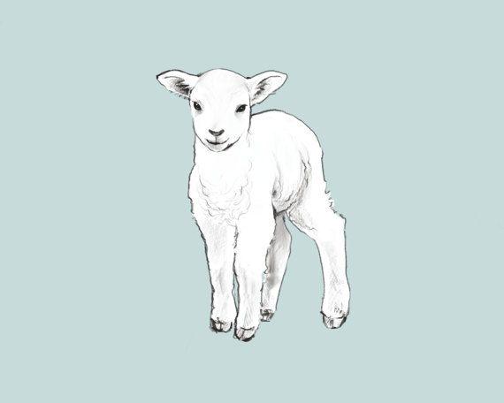 Nursery Animal Printable Lamb by CubsandKids on Etsy
